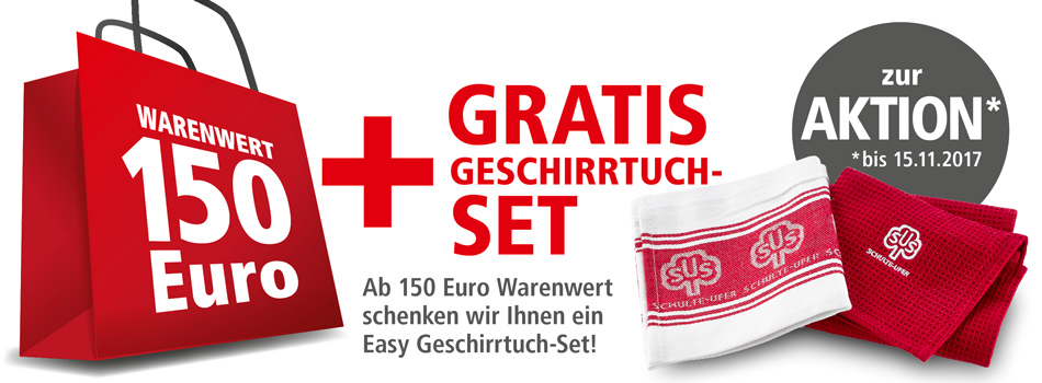 Kostenloses Geschirrtücher-Set von Schulte-Ufer!
