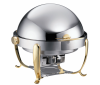 Chafing Dish Royal Gold, rund